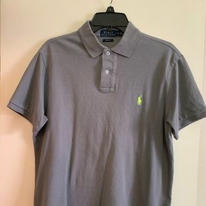 Large Polo Ralph Lauren Charcoal Gray custom fit